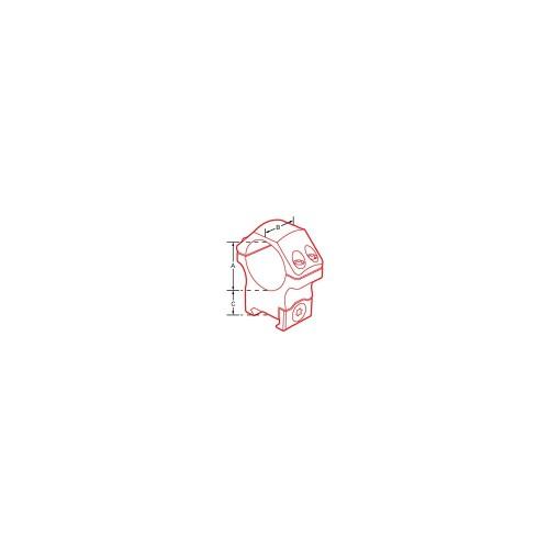 Coppia di anelli per fissaggio ottiche P.O.I.® professionali 30mm alti