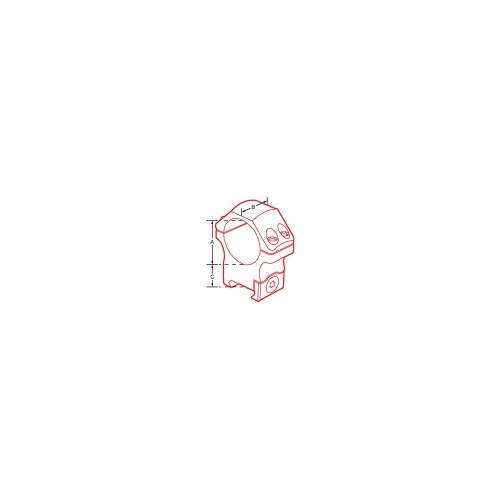 """Coppia di anelli per fissaggio ottiche RGPM con attacco Shina 11 1"""" medi"""