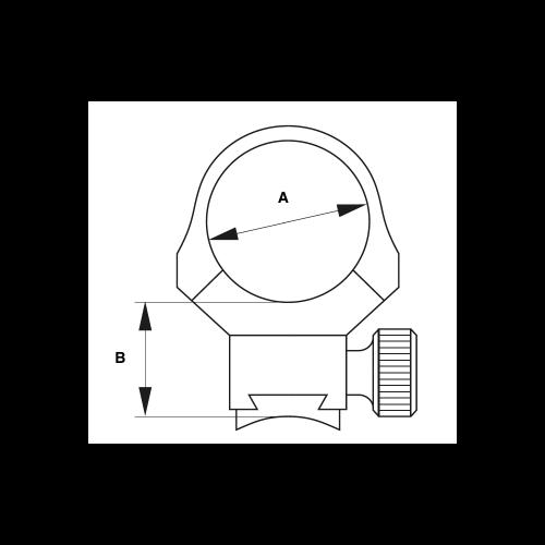 ERATAC Anelli per Ottica MILSPEC Picatinny 30mm
