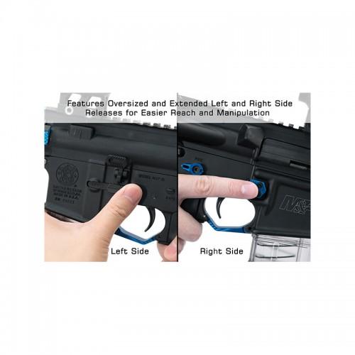 Pulsante Maggiorato Ambidestro per caricatore AR15 ,blu