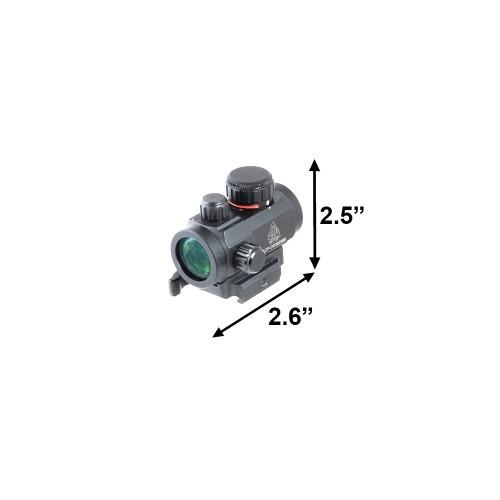 UTG Red Green Dot Tubolare Compatto Single Dot da 66 mm