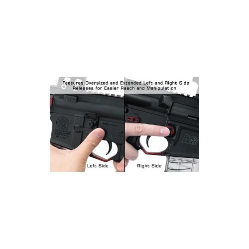 Pulsante Maggiorato Ambidestro per caricatore AR15 rosso