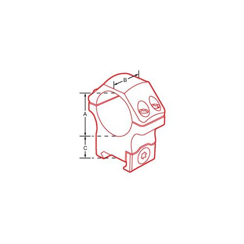 Coppia di anelli per fissaggio ottiche RQ2W A SGANCIO RAPIDO