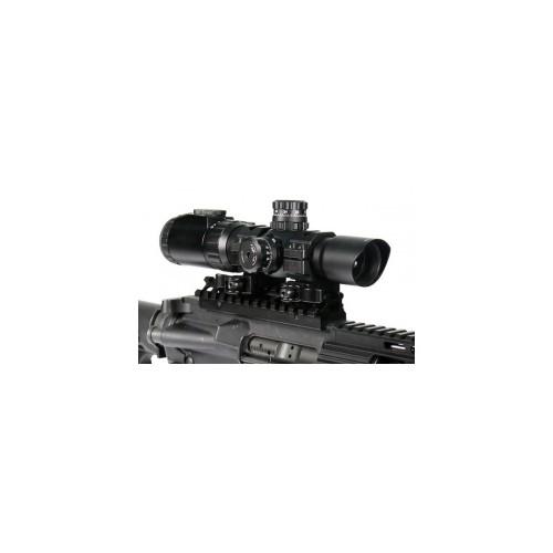 Ottica Tactical 1-4x28 con lenti multirivestimento