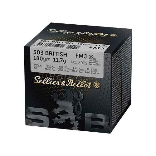 303 BRITISH S&B FMJ 180 GRS (CONF 50 PZ)