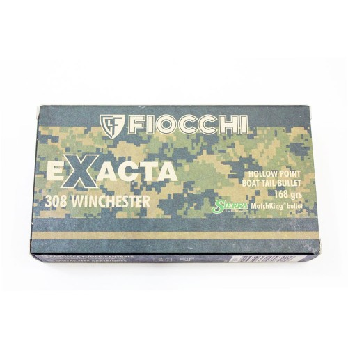 308 WINCHESTER FIOCCHI EXACTA HPBT 168 SMK (CONF 20 PZ)